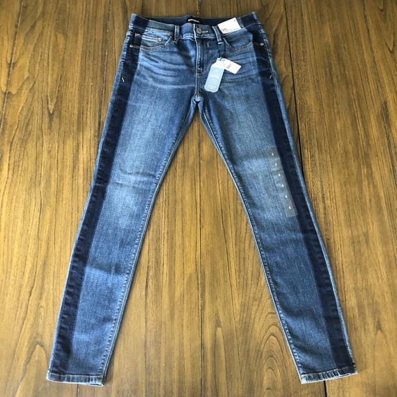 Express mid rise legging skinny jeans